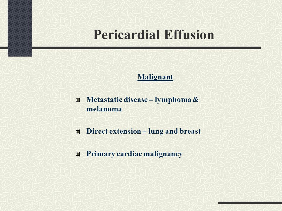Pericardial Effusion Malignant