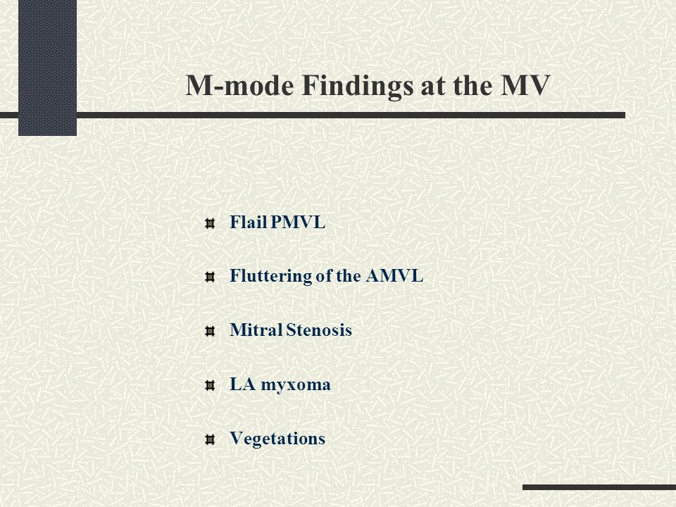 M-mode Findings at the MV