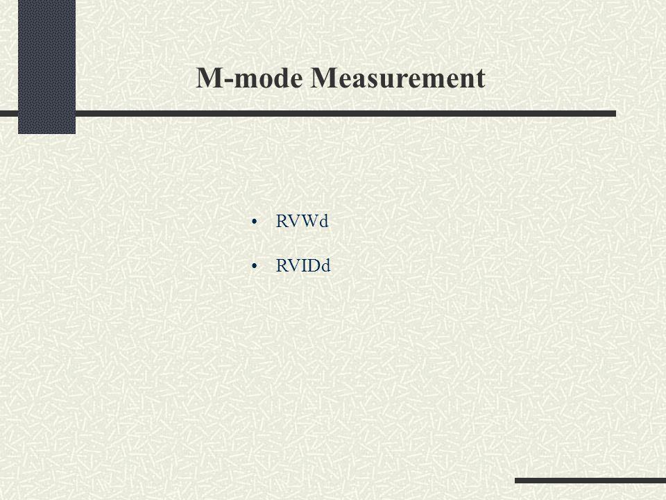 M-mode Measurement RVWd RVIDd