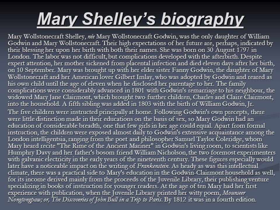 Mary Shelley Frankenstein Ppt Download