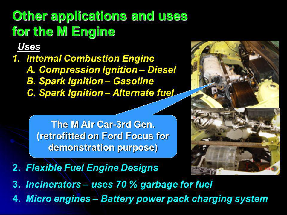 Other applications and uses for the M Engine