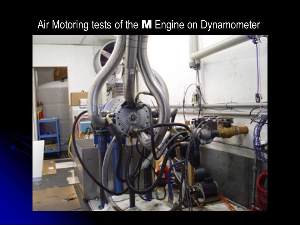 Air Motoring tests of the M Engine on Dynamometer