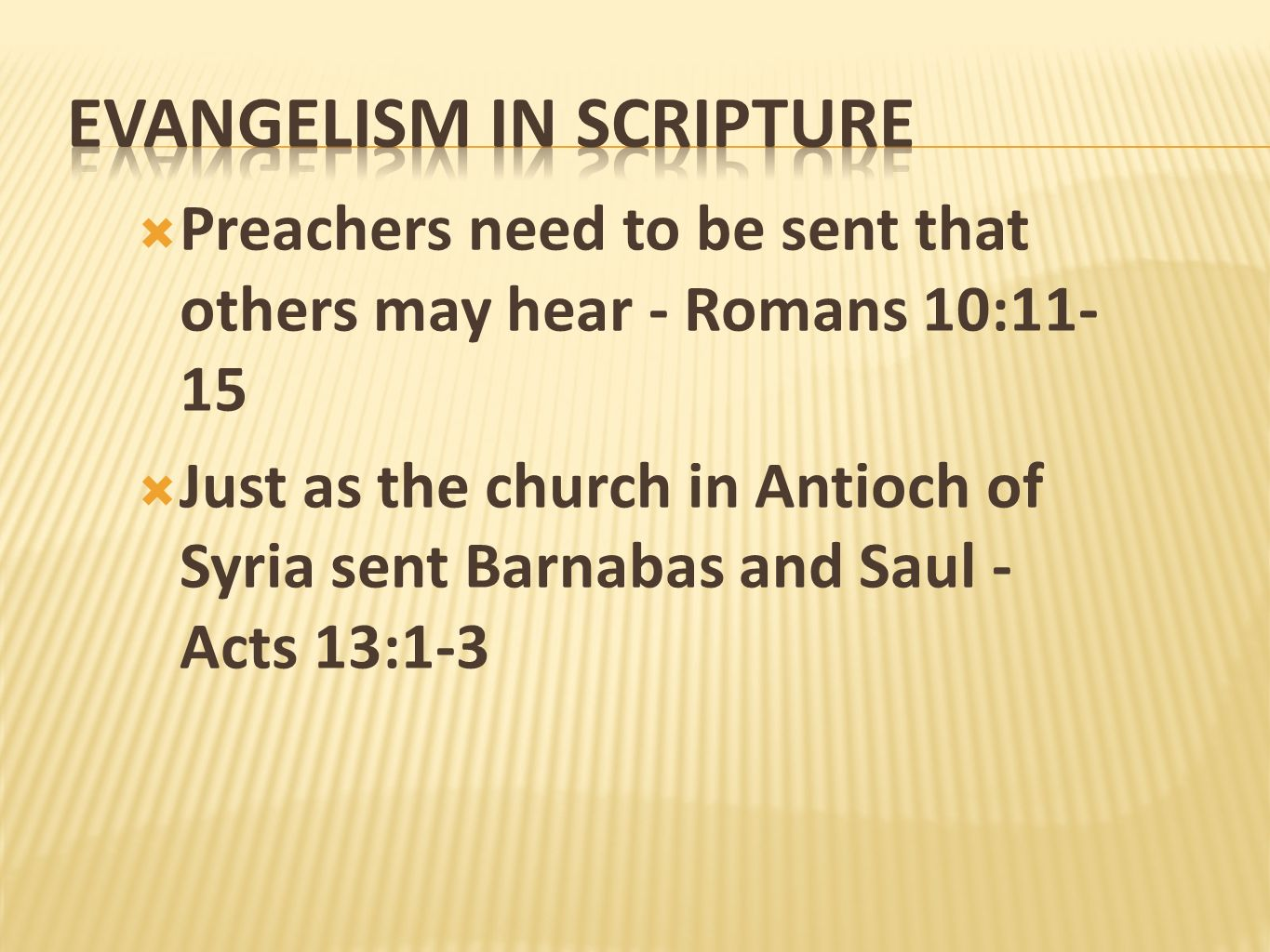 Evangelism in scripture