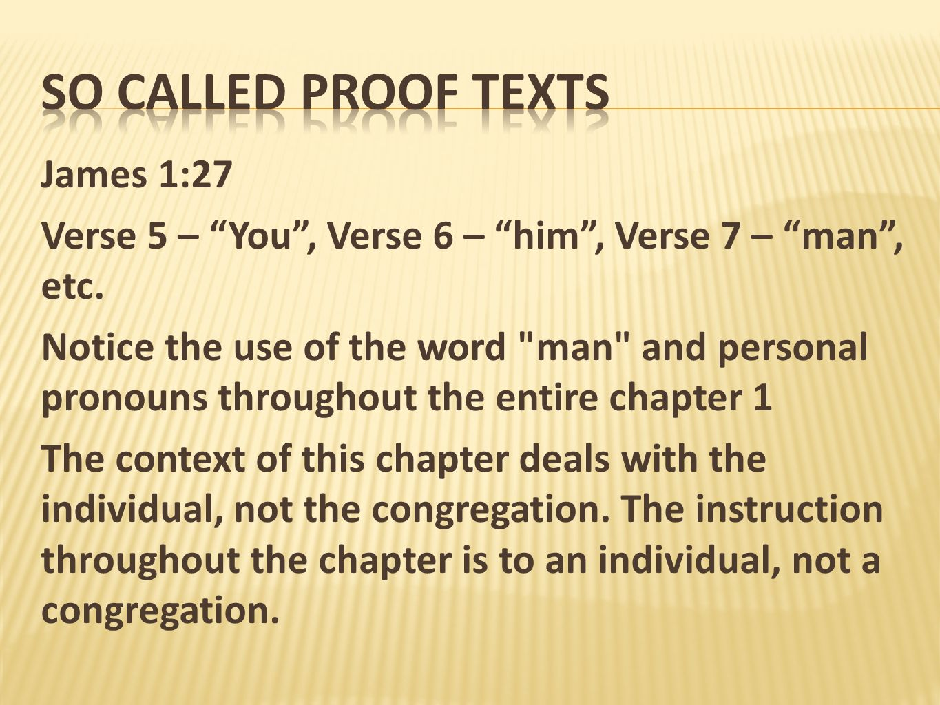 So called proof texts