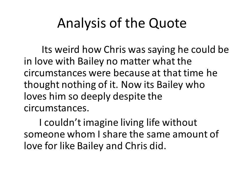 Analysis of the Quote
