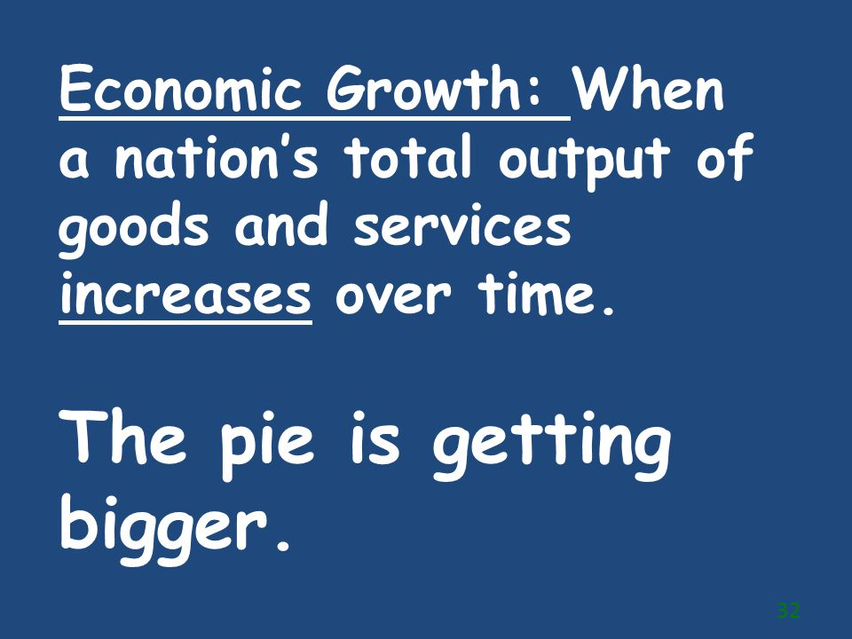 The pie is getting bigger.