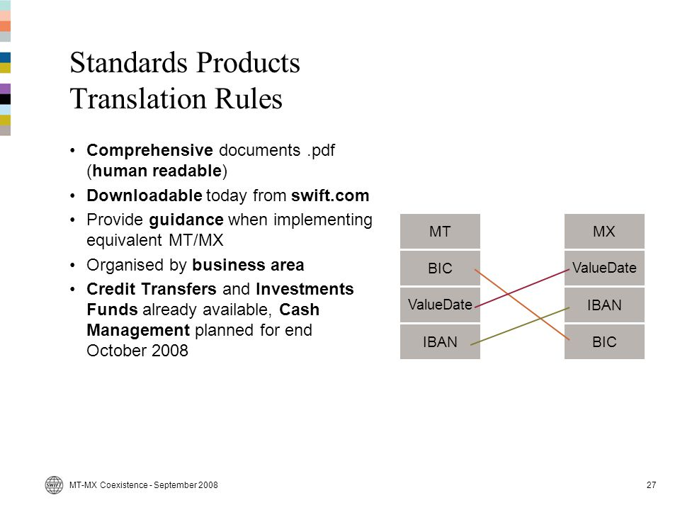 Standards Products Translation Rules