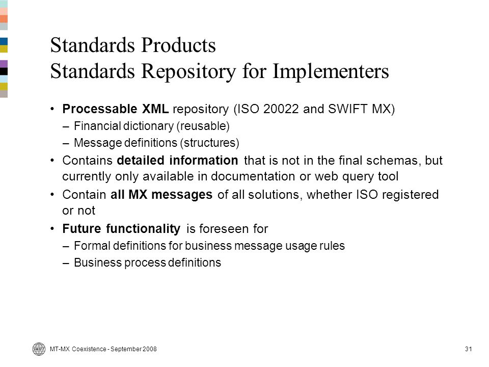 Standards Products Standards Repository for Implementers