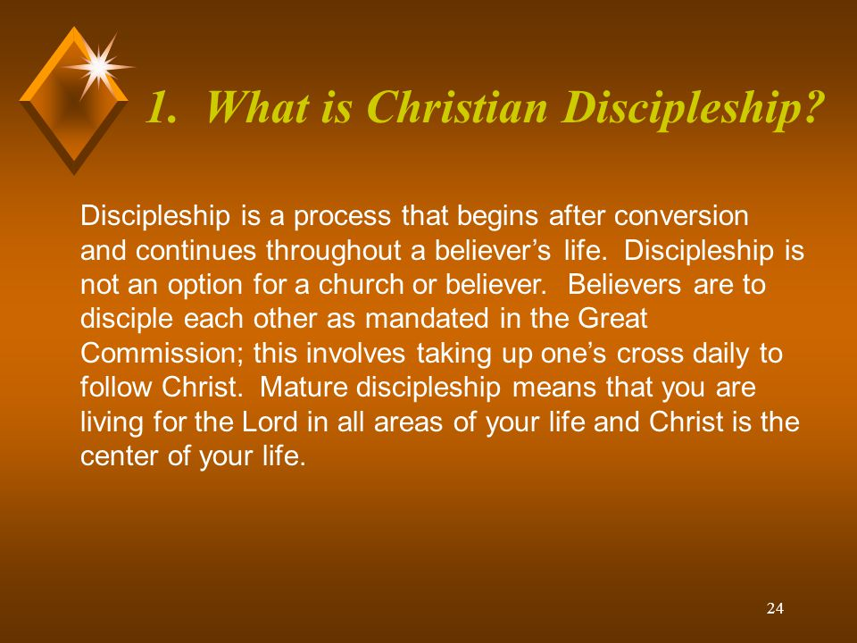 1. What is Christian Discipleship
