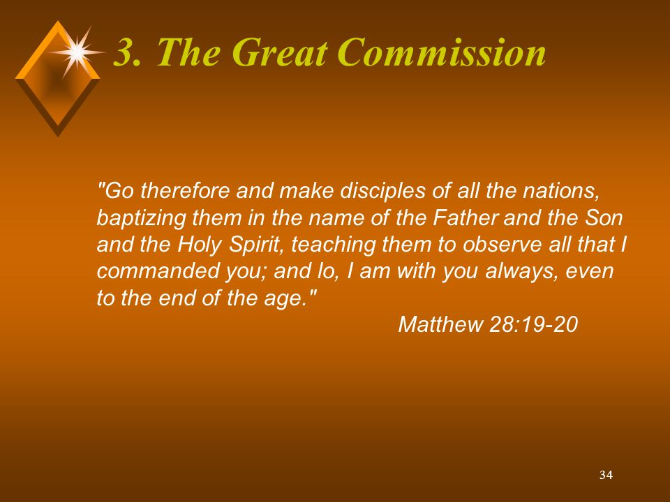 3. The Great Commission