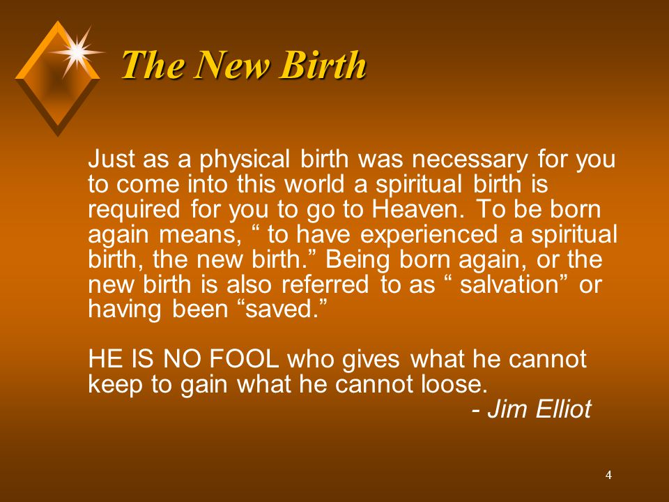 The New Birth