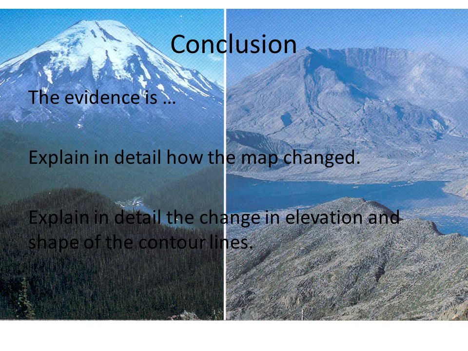 Conclusion The evidence is … Explain in detail how the map changed.