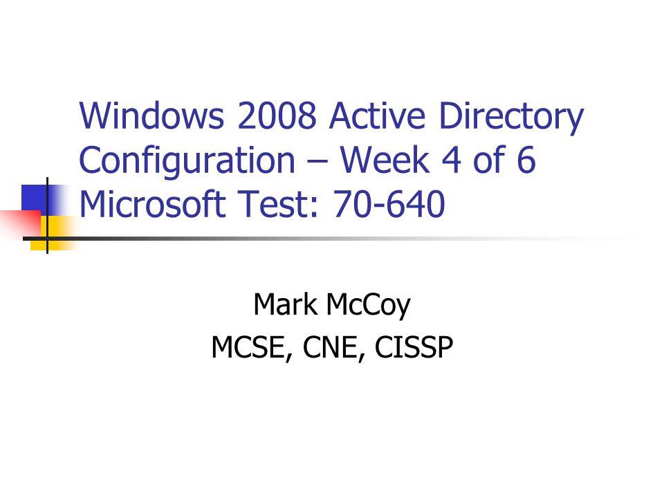 Mark McCoy MCSE, CNE, CISSP