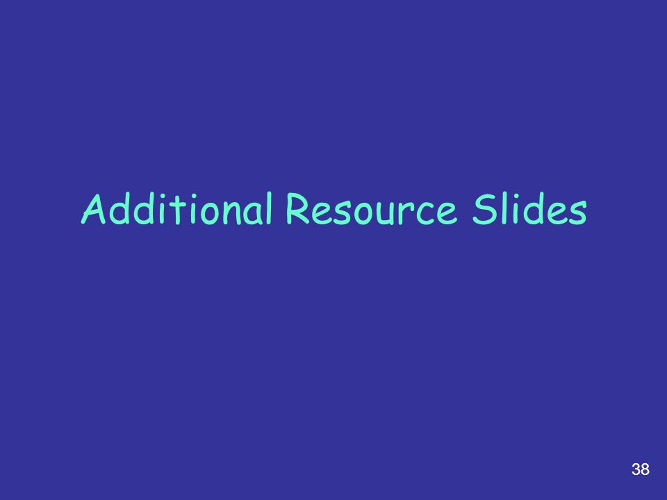 Additional Resource Slides