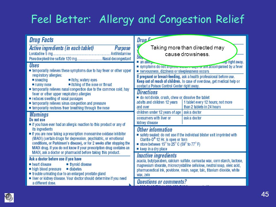 Feel Better: Allergy and Congestion Relief