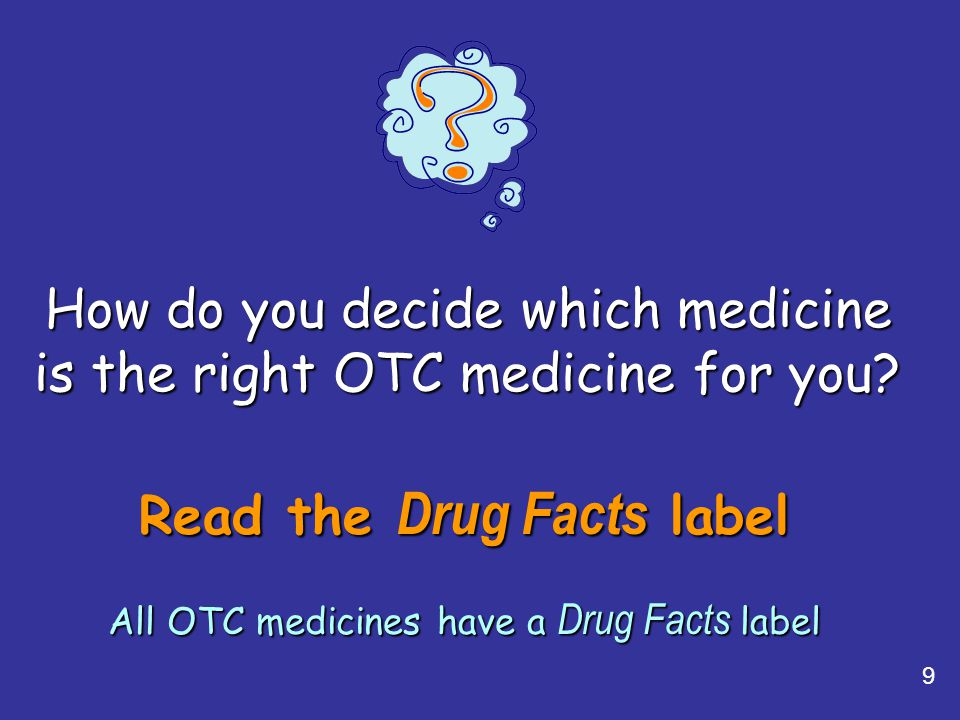 How do you decide which medicine is the right OTC medicine for you
