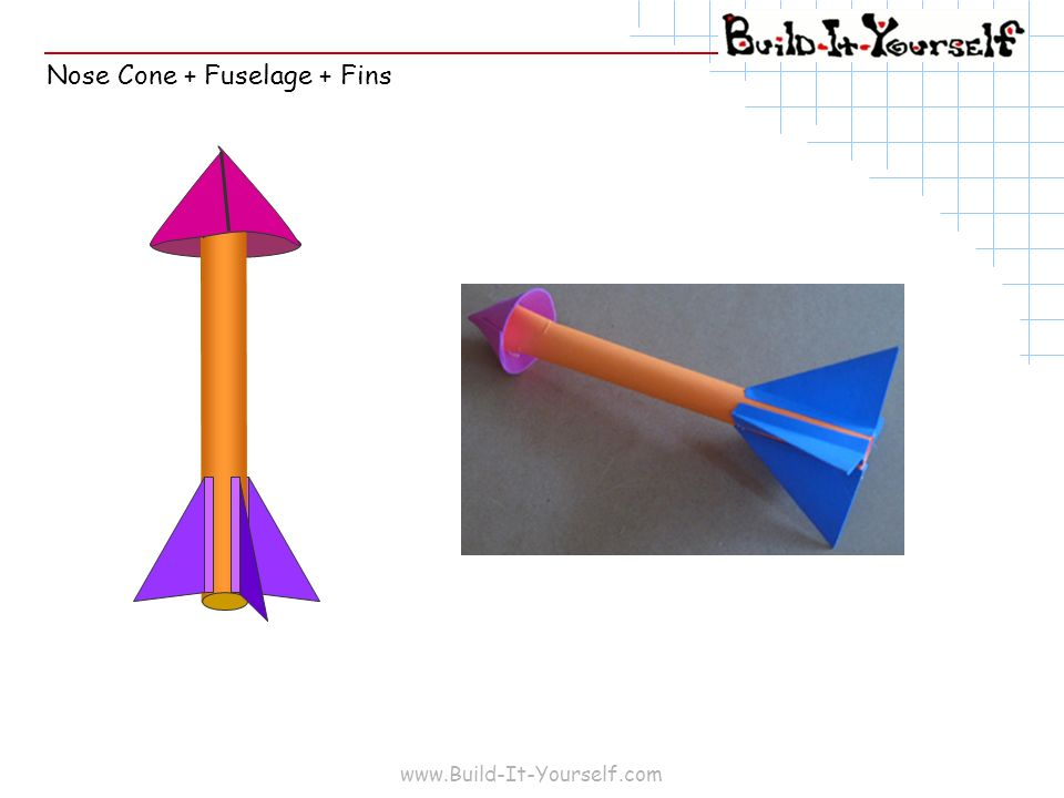 Nose Cone + Fuselage + Fins