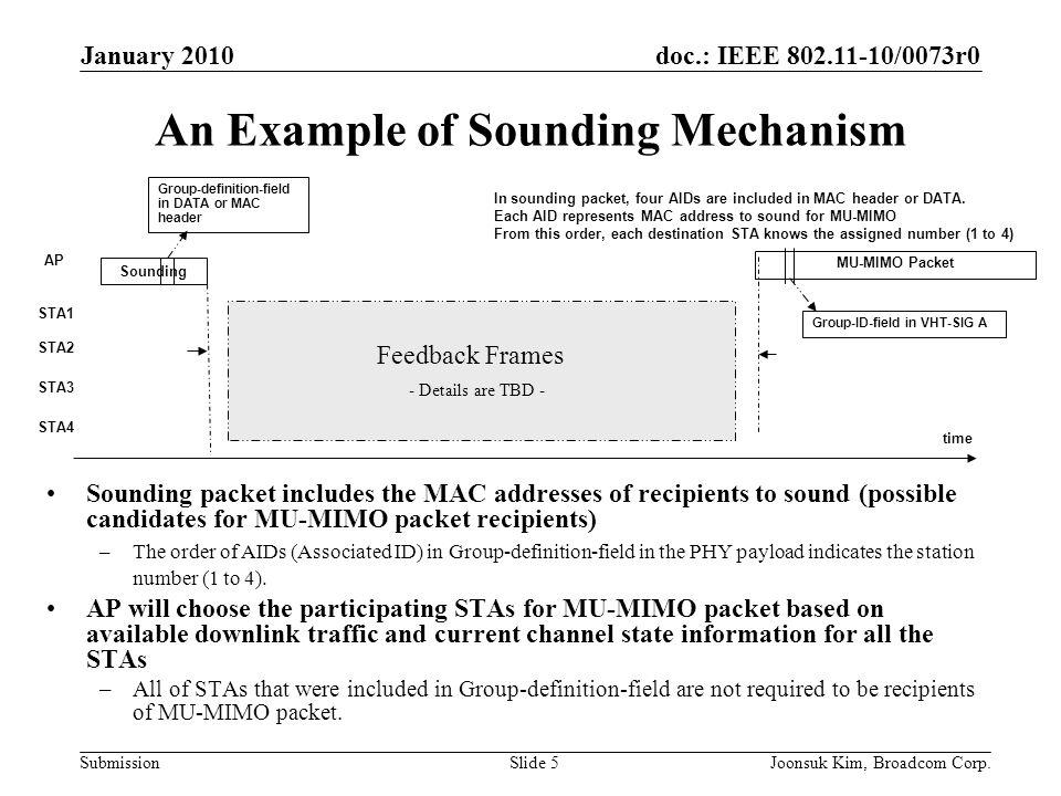An Example of Sounding Mechanism