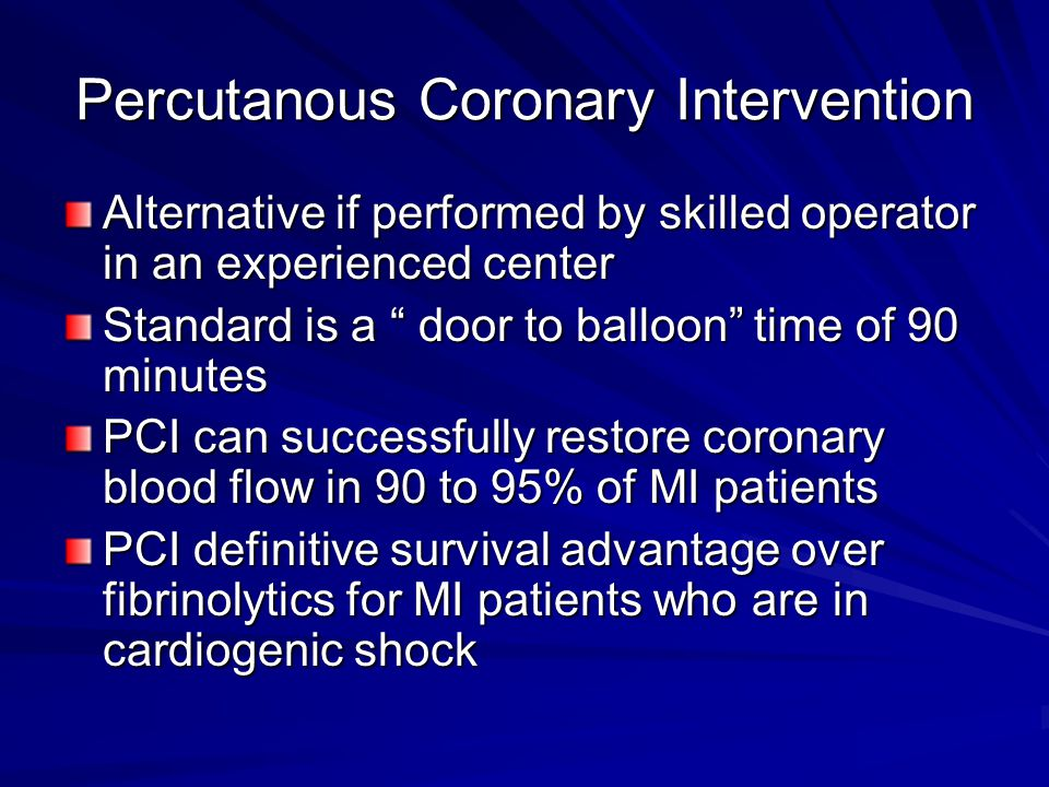 Percutanous Coronary Intervention
