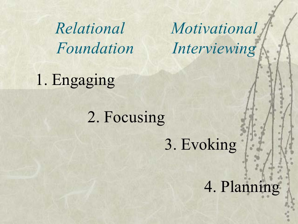 Relational Motivational Foundation Interviewing