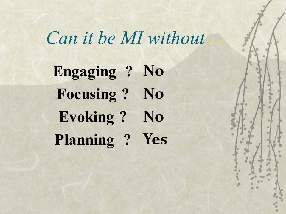 Engaging Focusing Evoking Planning
