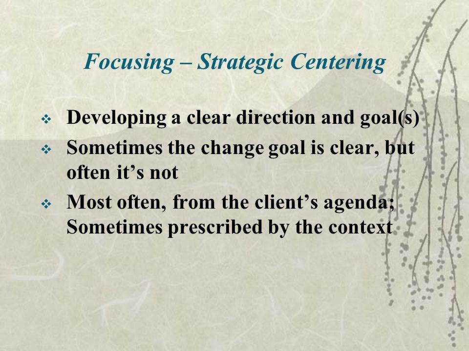 Focusing – Strategic Centering