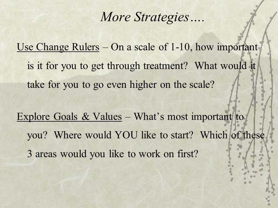 More Strategies….