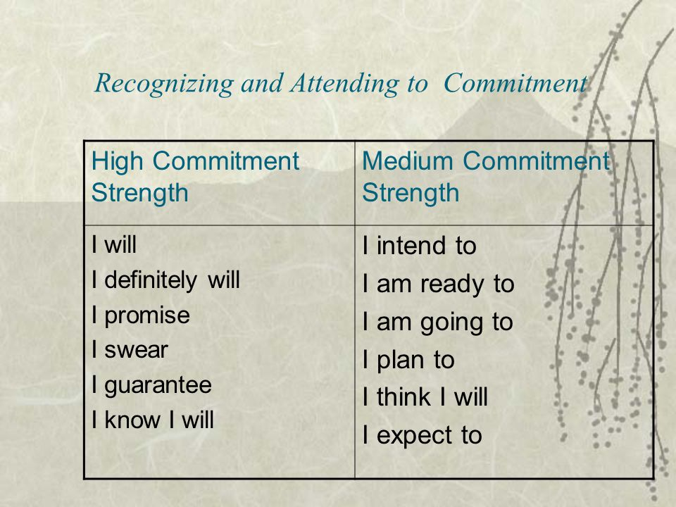 Recognizing and Attending to Commitment