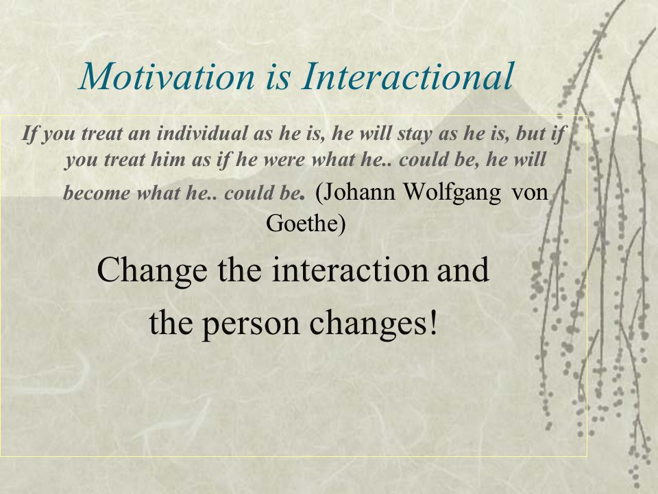 Motivation is Interactional