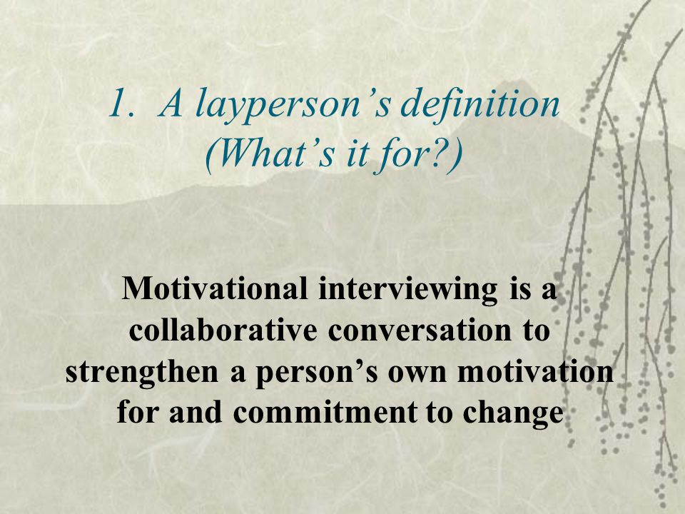 1. A layperson's definition (What's it for )