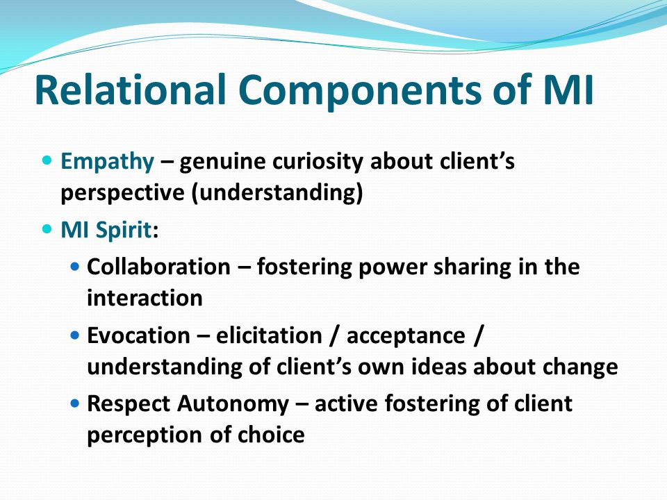 Relational Components of MI