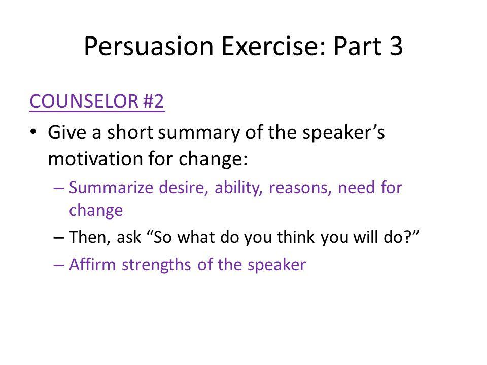 Persuasion Exercise: Part 3