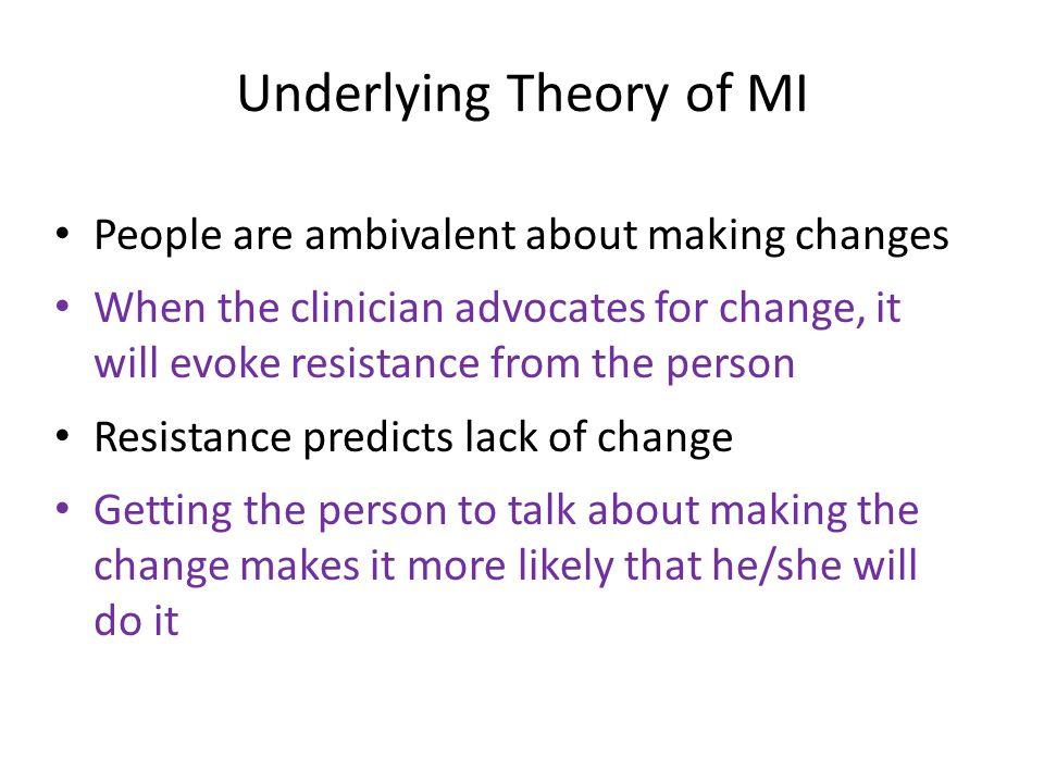 Underlying Theory of MI