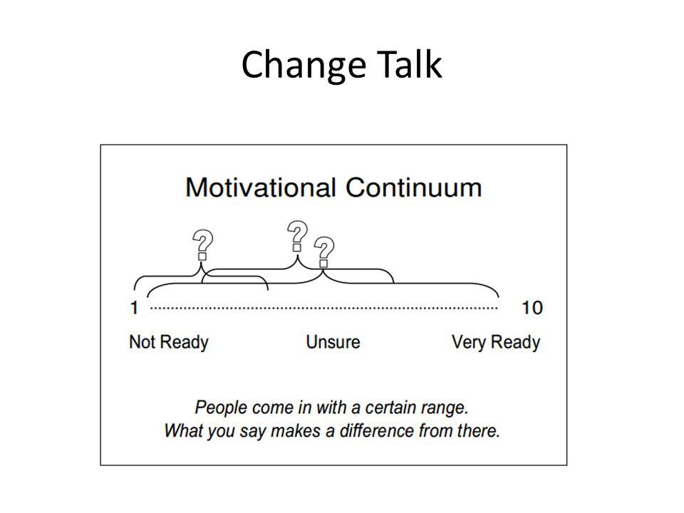 Change Talk An argument FOR change