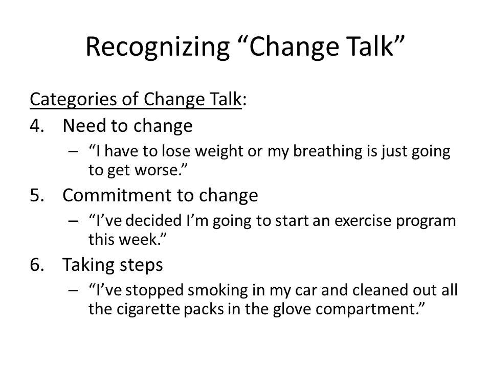 Recognizing Change Talk