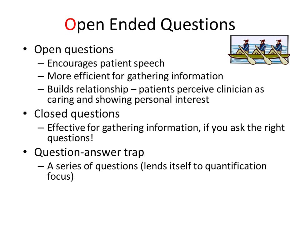 Open Ended Questions Open questions Closed questions