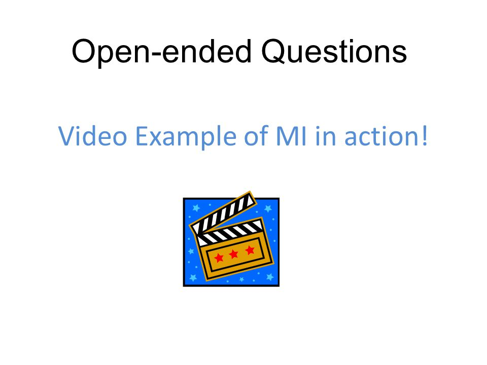 Video Example of MI in action!