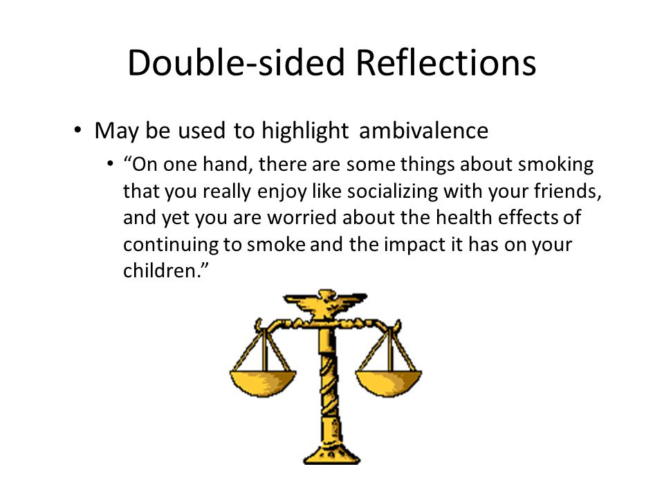 Double-sided Reflections
