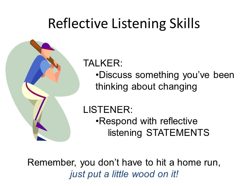 Reflective Listening Skills