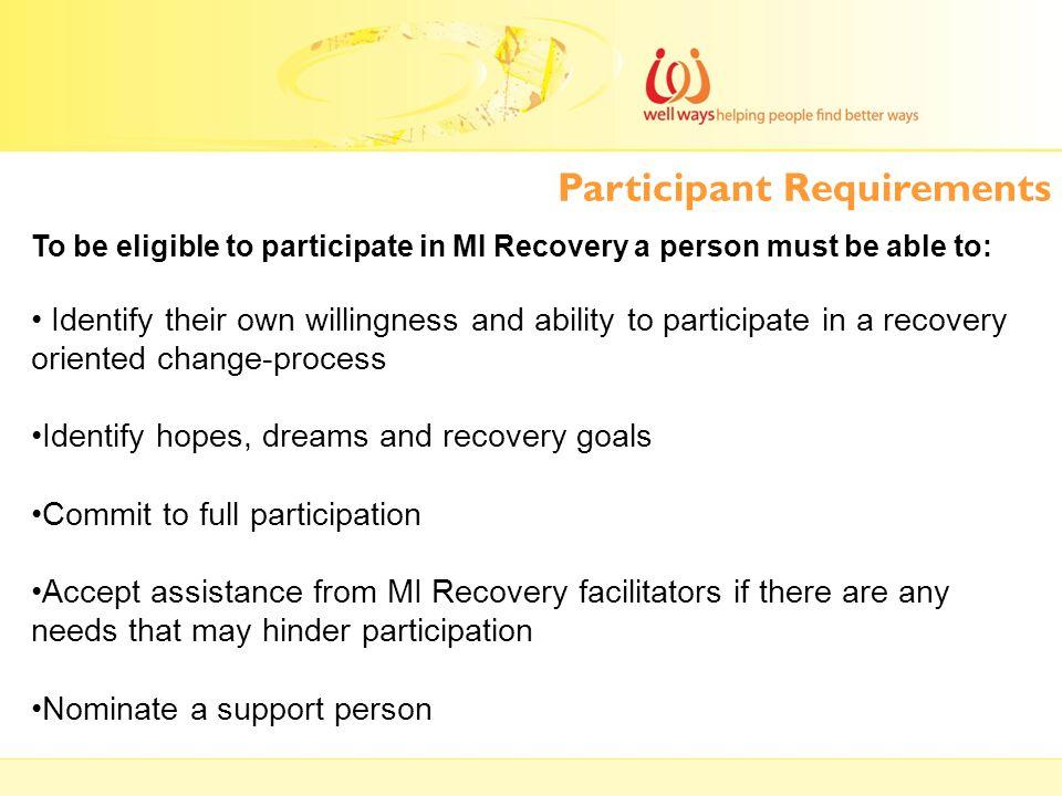 Participant Requirements