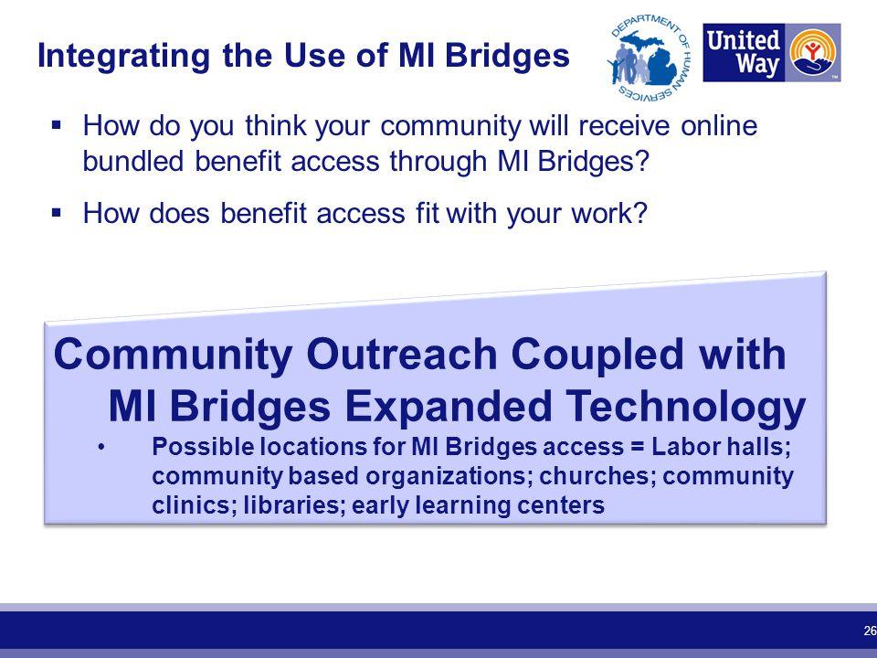 Integrating the Use of MI Bridges