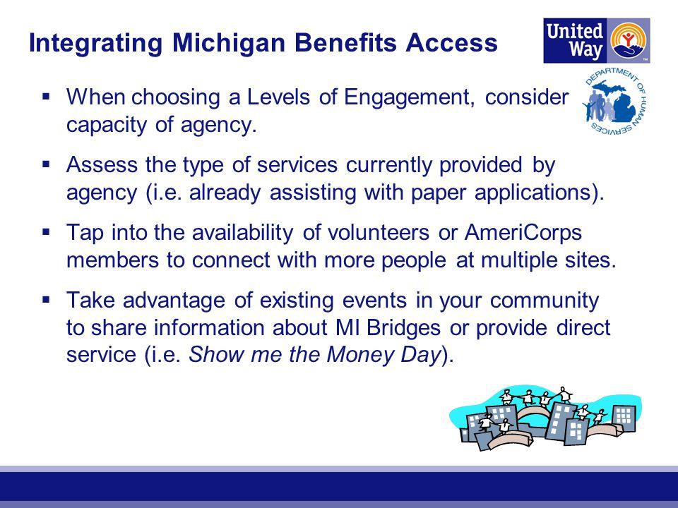 Integrating Michigan Benefits Access