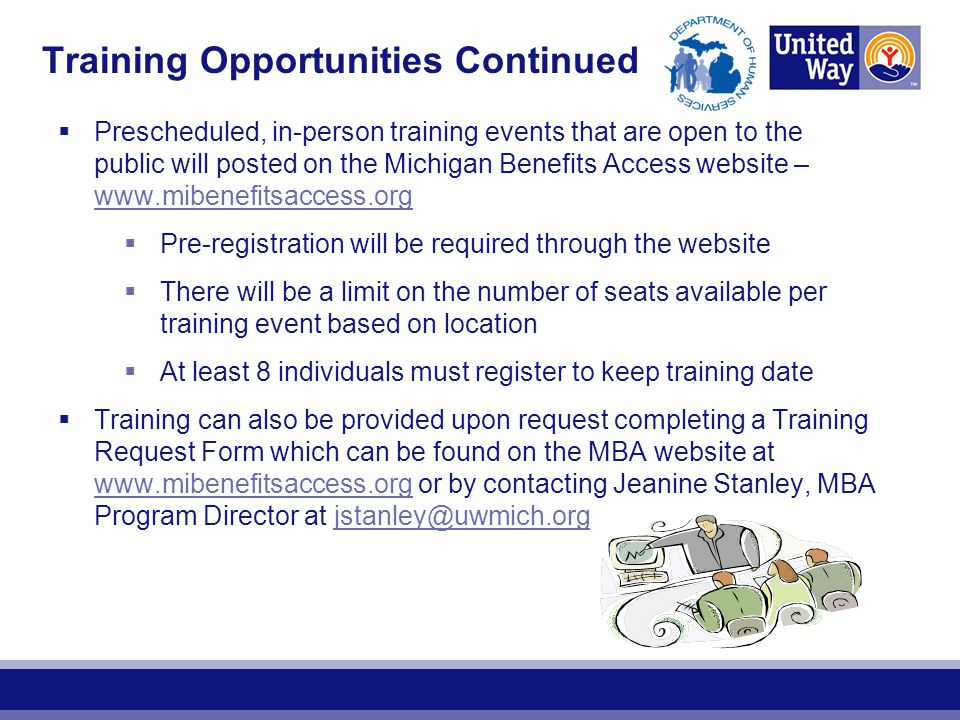 Training Opportunities Continued