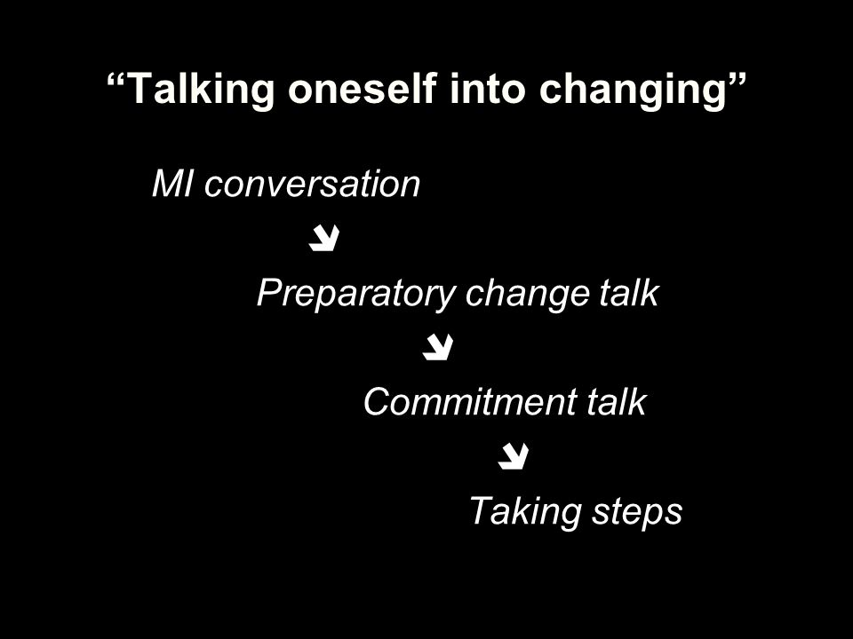 Talking oneself into changing