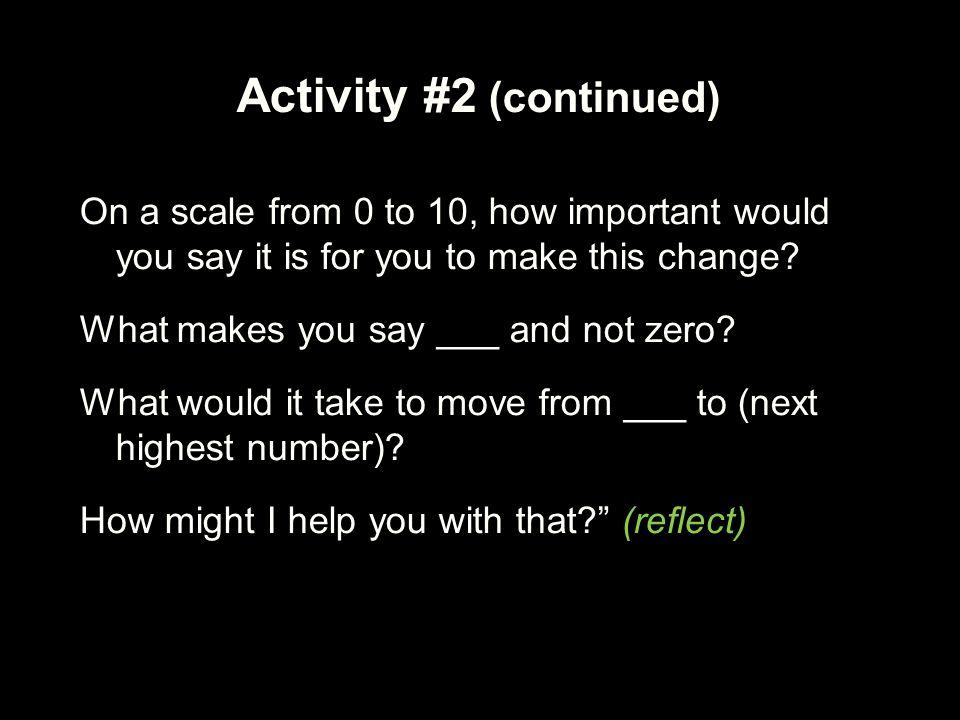 Activity #2 (continued)