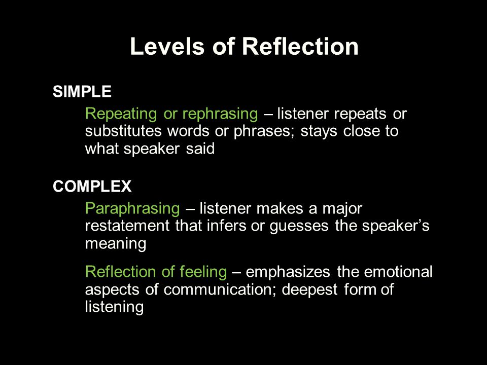 Levels of Reflection SIMPLE