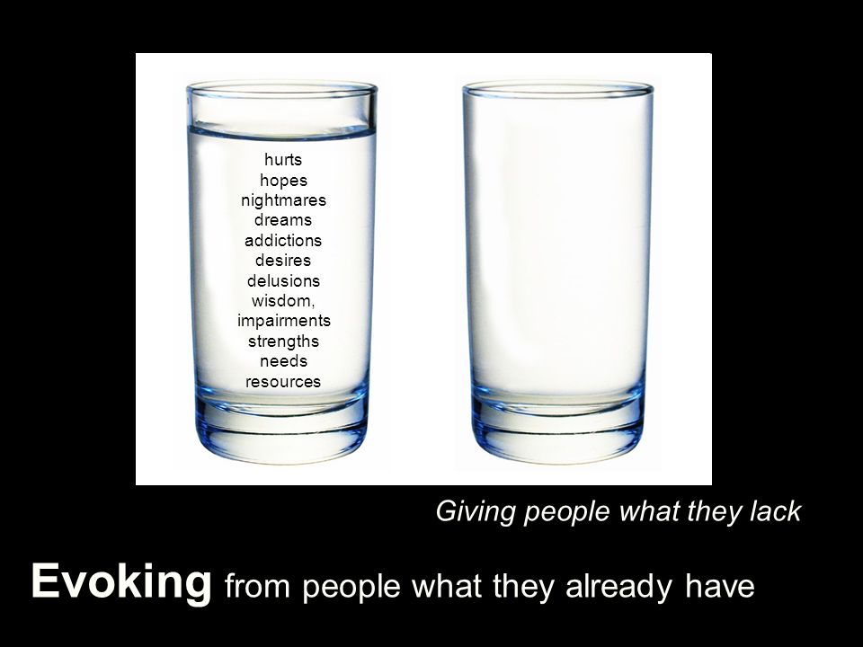 Evoking from people what they already have