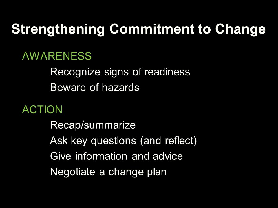 Strengthening Commitment to Change