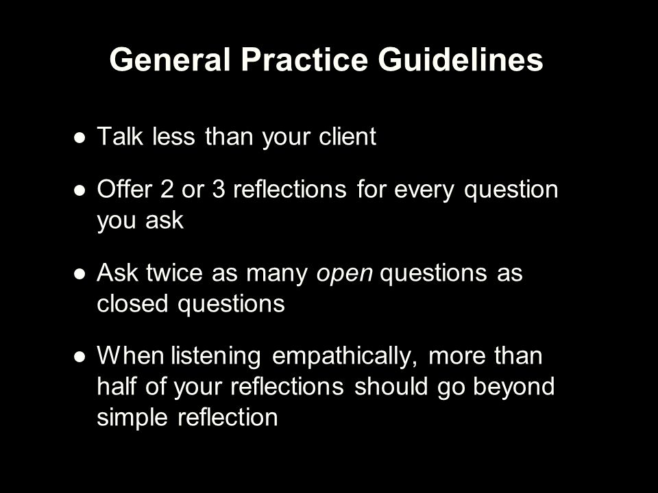 General Practice Guidelines