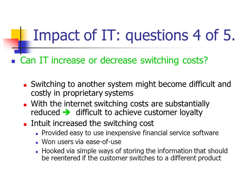 Impact of IT: questions 4 of 5.